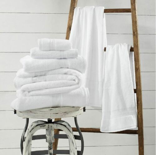 Grown Woven 1888 Mills Sweet South White Bath Towel Choose Size: USA Made