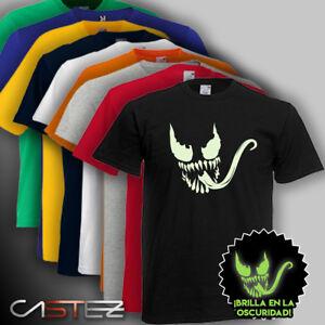 970b9c96f La imagen se está cargando Camiseta-luminiscente-venom-spiderman -comic-brilla-oscuridad-ENVIO-