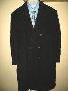 8c3df0cc56c Nino Cerruti Men s Double Breasted Cashmere Wool Black Suit Coat ...