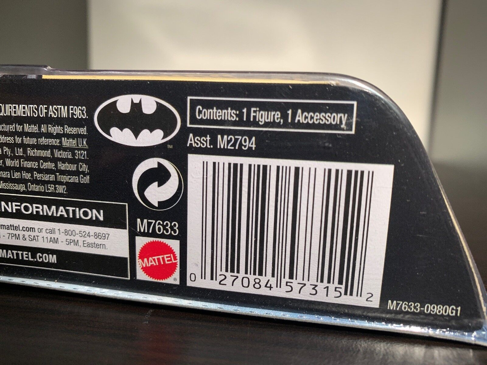 Batman Dark Knight Knight Knight Gotham City Thug Recalled Version Mattel Movie Masters 33e5d0