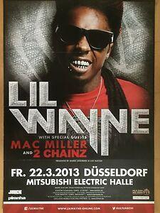 LIL-WAYNE-22-03-2013-DUSSELDORF-orig-Concert-Poster-Konzert-Plakat-A1-NEW