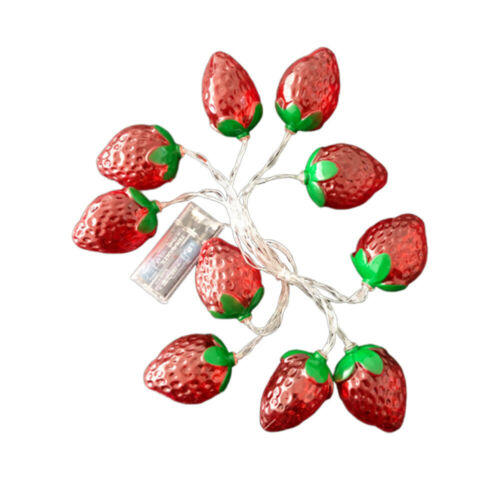 1pc String Light Strawberry Creative Delicate Durable Light Decor for Party