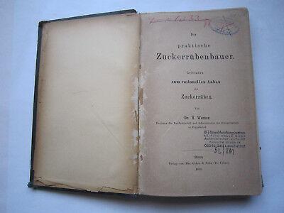 """Rationellen Anbau Von Werner,1888 Auf Der Ganzen Welt Verteilt Werden """"der Praktische Zuckerrübenbauer""""leitfaden Z Sonstige"""