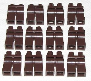 LEGO-LOT-OF-12-DARK-BROWN-MINIFIGURE-LEGS-PANTS-BODY-PARTS-PIECES