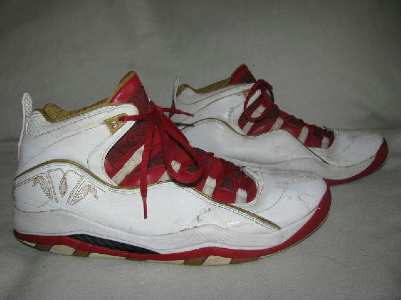 Nike Air JORDAN Olympia 323096-171 Mens Sz 13 White Metallic gold Varsity Red