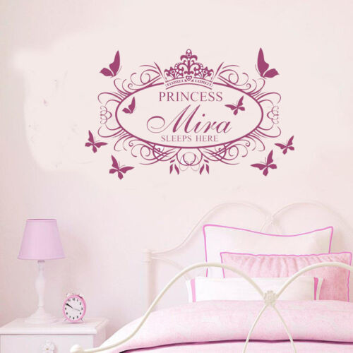 Wall stickers custom name sleep crown flower Decal Removable Vinyl Decor Nursery
