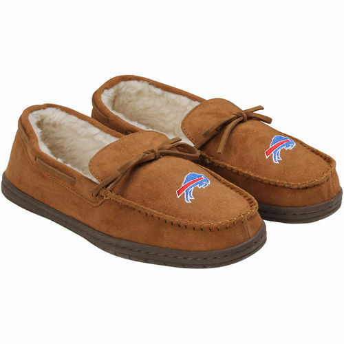Forever Collectibles NFL NEW Buffalo Bills Mens Moccasins Slippers