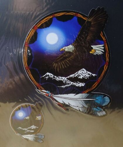 1 3.75x4.5 in 1 EAGLE MOON AND MOUTAIN STICKERS HELMET // TANK ETC. 1.5x1.75