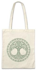 Yggdrasil-Circle-Stofftasche-Einkaufstasche-Viking-Baum-des-Lebens-Weltenbaum
