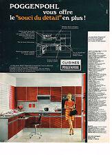 PUBLICITE ADVERTISING    1969   POGGENPOHL    cuisines équipées