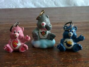 CUSTOM-Vintage-Care-Bear-1-5-034-ATTACHABLE-Keychains-GRAMS-BABY-HUGS-amp-TUGS-Lot