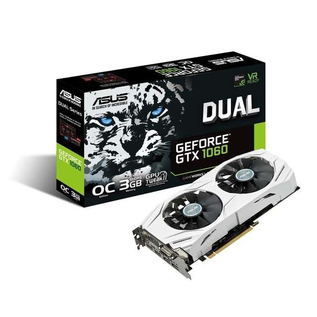 GeForce GTX 1060 ASUS, 3 GB RAM, Perfekt