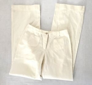 J-Jill-Womens-Size-2-Beige-Pants-Wide-Straight-Leg-Low-Rise-Trouser-Cotton