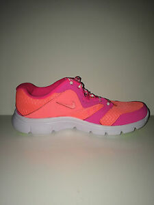 2280a9cf89e2 New Nike 653698-602 Flex Experience 3 Gs Girls Youth Women Lava Pink ...