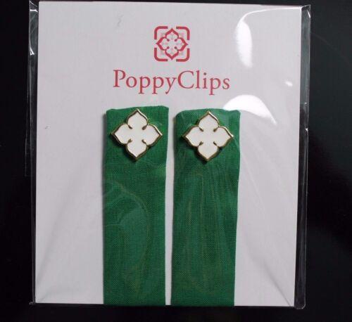 PoppyClips Magnetic Clothing Accessory Luck of Irish Green White Poppy LuLaRoe