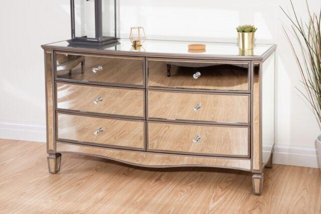 Cool Birlea Elysee Mirrored Bedroom Furniture 6 Drawer Chest Interior Design Ideas Gentotryabchikinfo