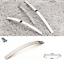 Cabinet-Door-Drawer-Furniture-Handle-Brushed-Chrome-Bow-Kitchen-Bathroom-Bedroom thumbnail 4