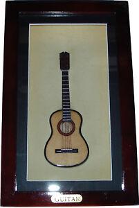 Shadow-Box-framed-with-handmade-miniature-Acoustic-Folk-Guitar-10-25-034-x-6-25-034