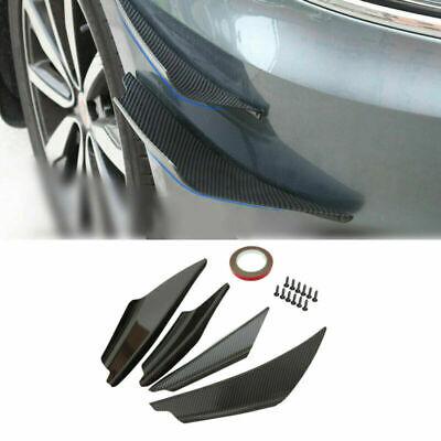 6pcs Carbon Fiber Front Bumper Body Fins Spoiler Canards Splitter-Kit Universal