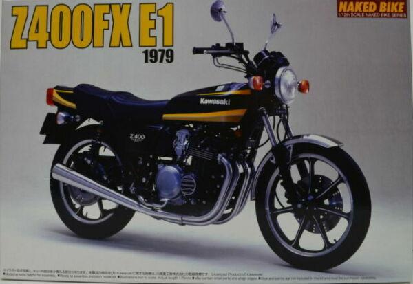 Aoshima 1979 Kawasaki Z400FX 1:12 Scale Plastic Model Kit 041512 NIB