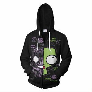 Invader-Zim-GIR-in-His-Dog-Disguise-Doom-Cosplay-Hoodie-Zip-Up-Jacket-Sweatshirt