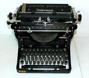 1936 Vintage UNDERWOOD Standard TYPEWRITER, Antique, Serial # 4389406-11