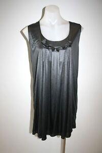 MAX-amp-Co-shiny-grey-silver-dress-size-S-335-NEW