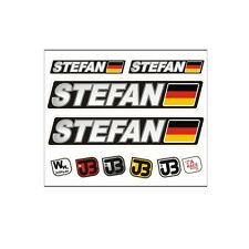 STEFAN Auto Fahrrad Motorrad Kart Helm Fahrername Aufkleber Sticker Flagge