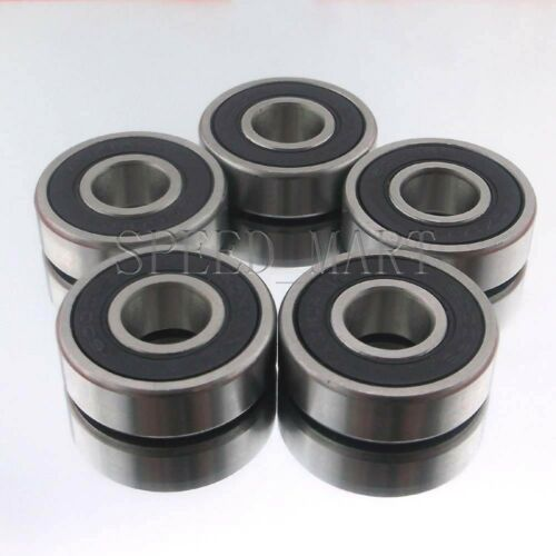 5PCS 6004-2RS 6004RS Deep Groove Rubber Shielded Ball Bearing 20mm*42mm*12mm