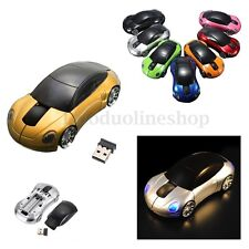 New 3D Car Shape Mice Wireless Optical Mouse USB 2.4GHz for Computer PC Laptop