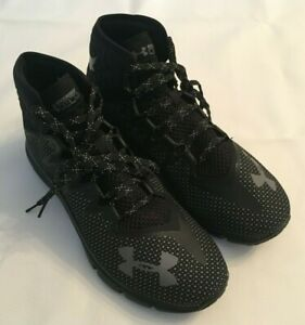 NEW-UNDER-ARMOUR-PROJECT-ROCK-DELTA-BLACK-GREY-TRAINERS-3020175-001-MENS-SZ-13
