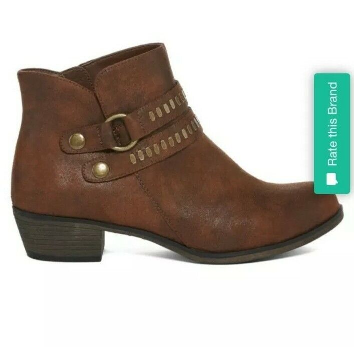 a.n.a Brown Addie Booties Size 8.5 - image 4
