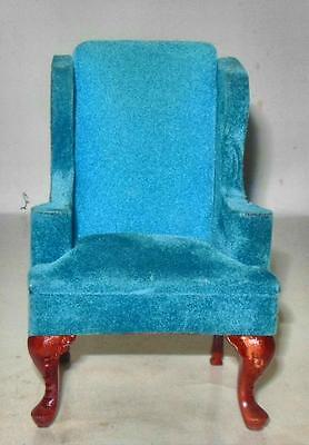 SIDE CHAIR RASBERRY CARVED MAHOGANY VINTAGE CM452 DOLLHOUSE FURNITURE MINIATURES