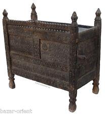 antik orient treasure Dowry Chest Truhe nuristan Afghanistan 19Jh Zedernholz N2