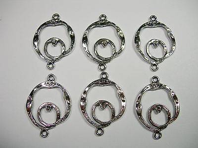 loops Gunmetal plated swirled drops 6-28mm links connectors