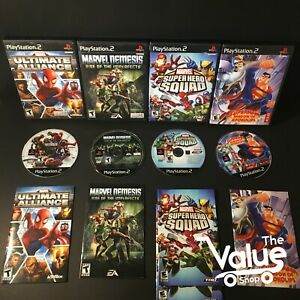 Sony-PlayStation-2-PS2-Video-Games-4-Games-Ultimate-Alliance-amp-More