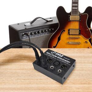 NEW-Pyle-PHE400-Hum-Noise-Eliminator-2-Channel-Box-with-1-4-039-039-amp-XLR-Jacks