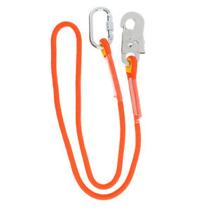 Rock Climbing Fall Protection Safety Lanyard with Snap Hook Aerial Work Lanyard