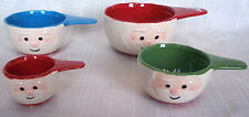 Le Gourmet Chef 4 Ceramic Nesting Measuring Cups Multi-Colored NEW