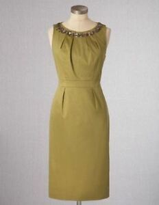 Nwt 148 Boden Sequin Decor Antique Gold Coctail Darcey Dress Wh464