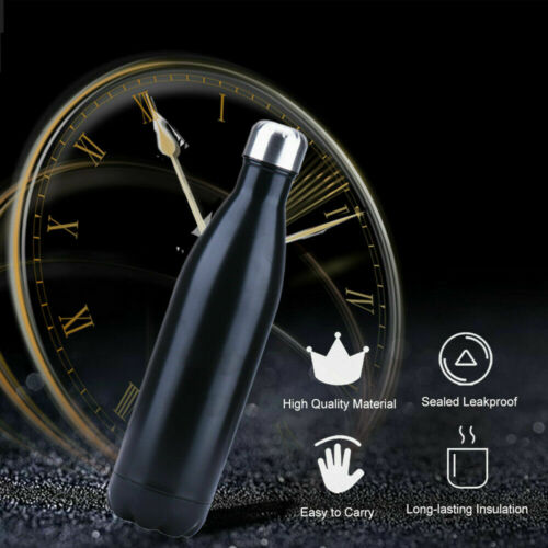500ml Stainless Steel Water Bottle 17Oz Double-Wall Vacuum Insulated Sports Cup