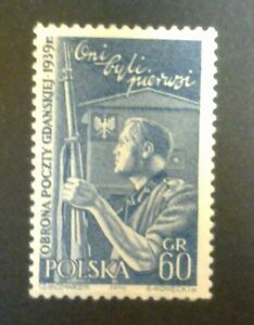 POLAND STAMPS MNH Fi915 Sc819 Mi1060 - Defence of the Polish Post, 1958, ** - Reda, Polska - POLAND STAMPS MNH Fi915 Sc819 Mi1060 - Defence of the Polish Post, 1958, ** - Reda, Polska