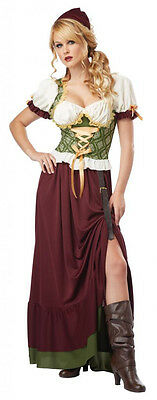 Medieval Renaissance Serving Wench Beer Tavern Girl Dress Barmaid Peasant Gypsy