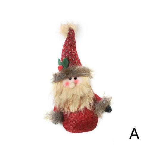 Weihnachten Sackleinen Puppe Anhänger Cartoon Alter Puppet Weihnachten Deco G9T0