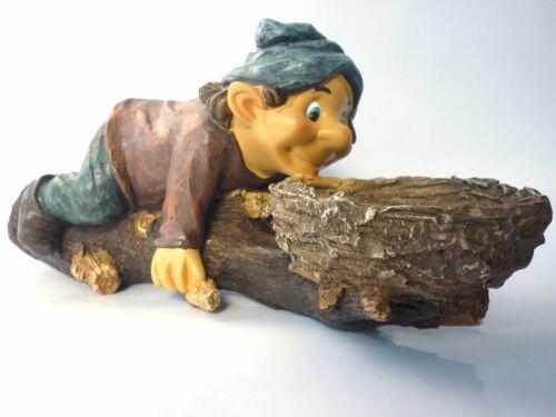 """Baumfigur Baumdeko Gnom Troll Wichtel Zwerg Gartendeko /""""liegt auf Bauch/"""" NEU OVP"""