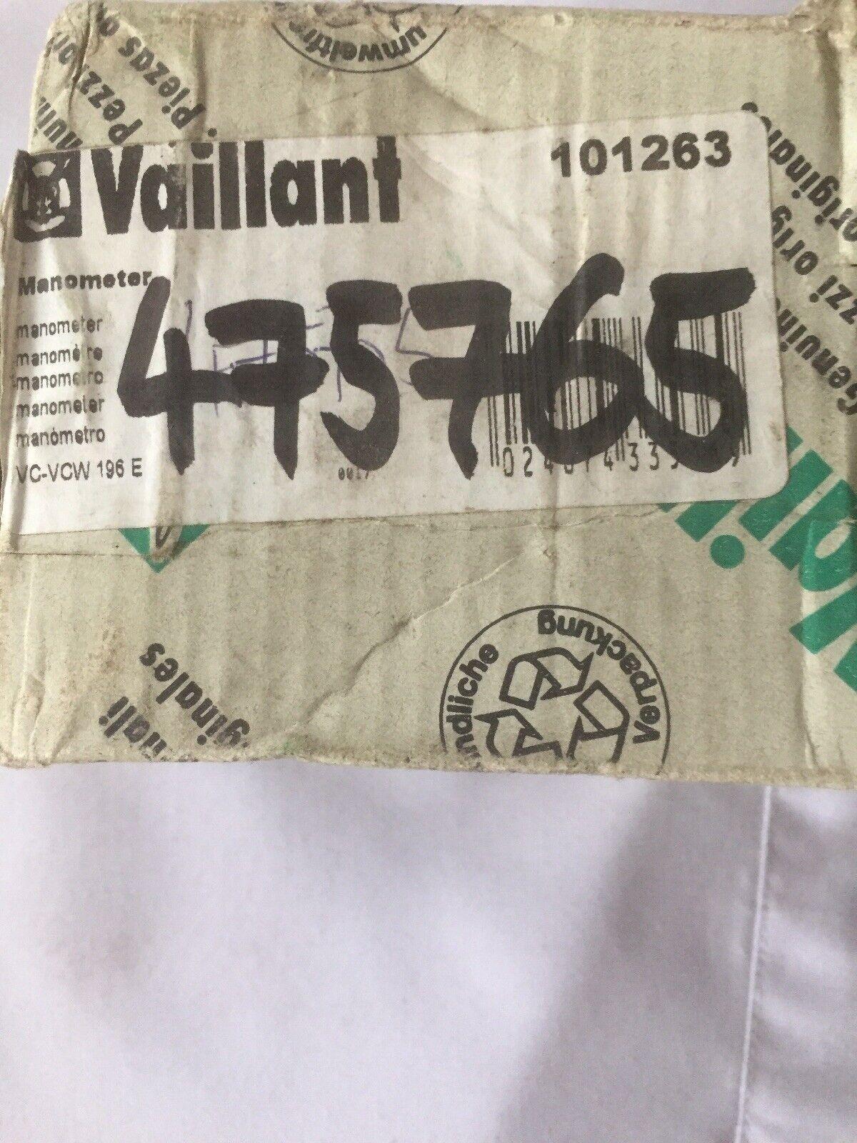 VAILLANT ECOMAX 613 618 622 /& VU 146 196 246 E-C BOILER PRESSURE GAUGE  101263