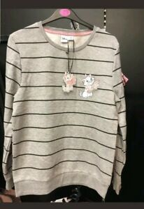 Primark Disney Aristocat Marie Ladies Jumper Stripe Sweatshirt Women/'s Primark