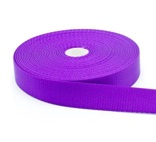 "1 Inch Purple Nylon Webbing 1/"" Width Medium Weight Nylon Strap"