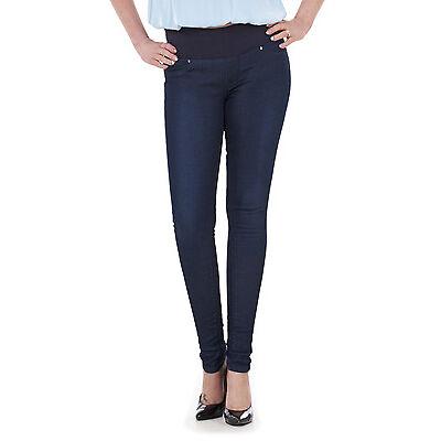 Ladies EX M&S Slim Skinny Maternity Jeans Jeggings Dark Denim Plus Size Jeans.
