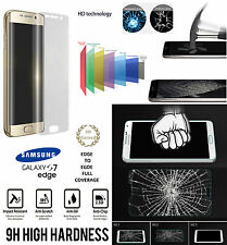 Samsung Galaxy S7 Edge 3D FULL CURVED CLEAR Tempered LCD Glass Screen Protector